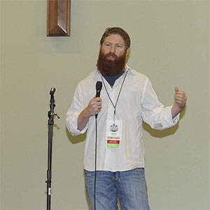 Jared Atchison presenting at WordCamp Austin
