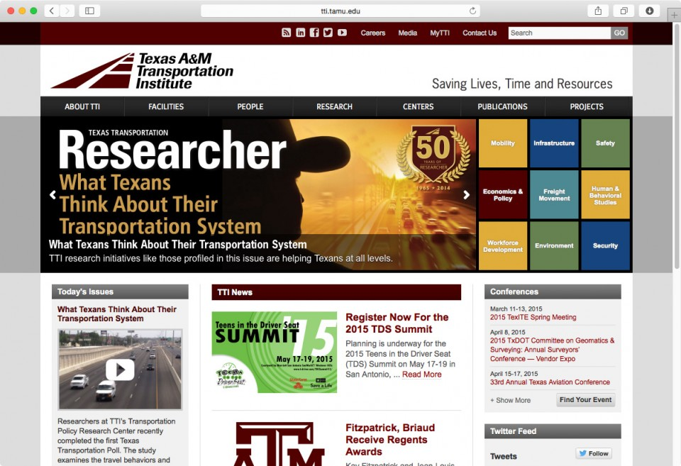 Texas A&M Transportation Institute website