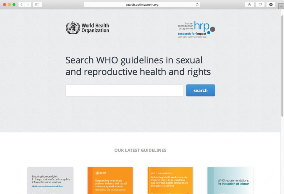 World Health Organization MNH website
